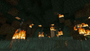 闇の森の葉っぱは強い湿り気を帯びていた(第74話):Minecraft_挿絵3