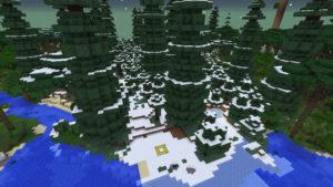 雪の森で防寒装備を整え、雪の女王が住まうオーロラ宮殿へ!(第75話):Minecraft_挿絵3