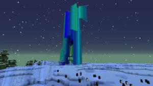 雪の森で防寒装備を整え、雪の女王が住まうオーロラ宮殿へ!(第75話):Minecraft_挿絵13