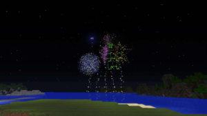 年の終わりを花火で祝ってみる(第84話):Minecraft_挿絵35