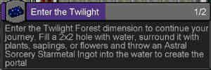 黄昏の森(Twilight Forest)再び!:Minecraft SevTech Ages#23_挿絵1