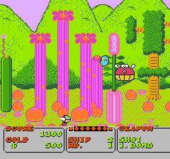 ファンタジーゾーンのプレイ日記1:レトロゲーム(ファミコン)_挿絵7
