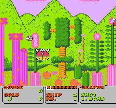 ファンタジーゾーンのプレイ日記1:レトロゲーム(ファミコン)_挿絵2